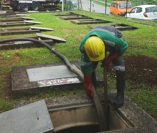 Desluding of Grease Trap