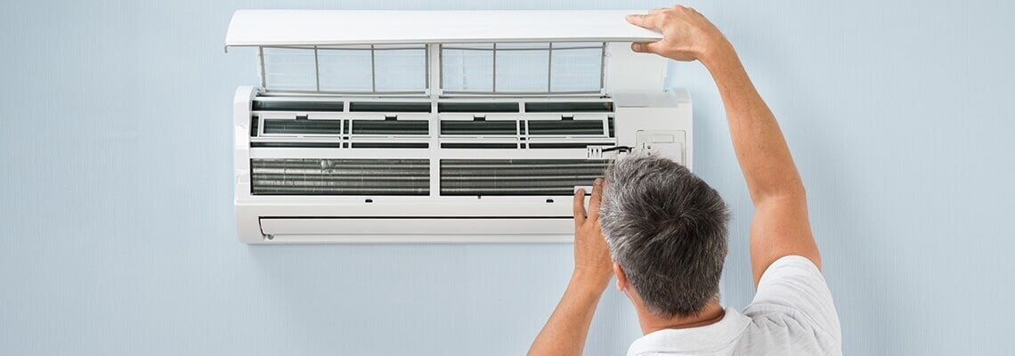 Checking the air conditioner