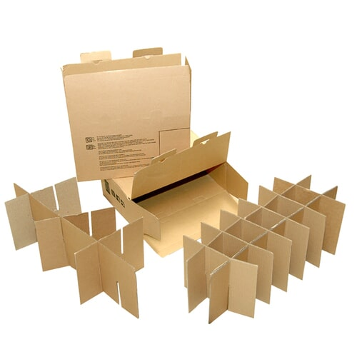 Carton box with partition