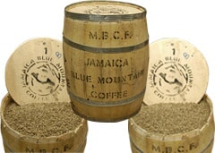 Jamaican Blue Mountain Coffee  – Strong aroma, long lasting fruit taste.
